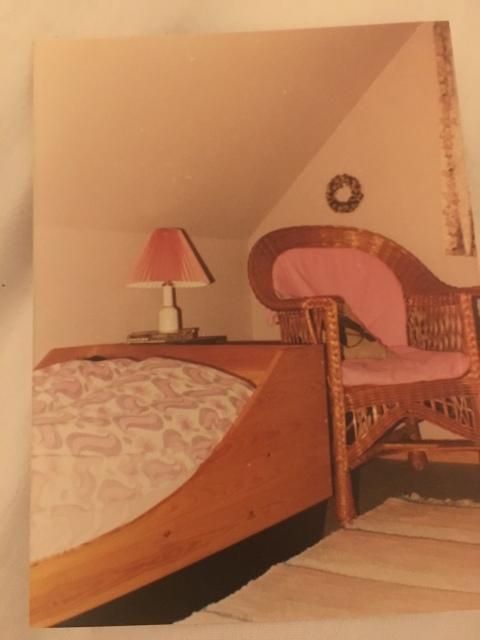 Min gammelrosa værelse for mange år siden